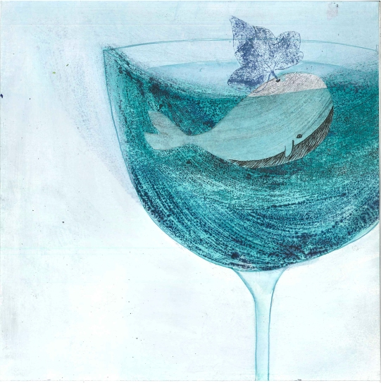 Gianni Rodari, L'omino dei sogni_Una balena nel bicchiere_2014