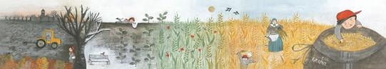 """Illustrazione per pannello retroilluminato, da """"Tascapane panetteria e altro"""" a Fontane di Villorba"""